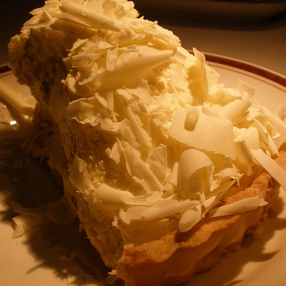 White Chocolate Banana Cream Pie - Chops Lobster Bar, Atlanta, GA