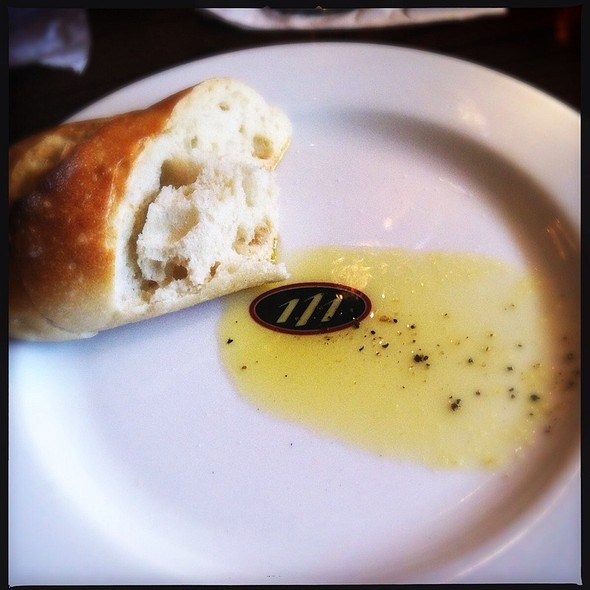Bread with olive oil - 111 Chop House, Worcester, MA