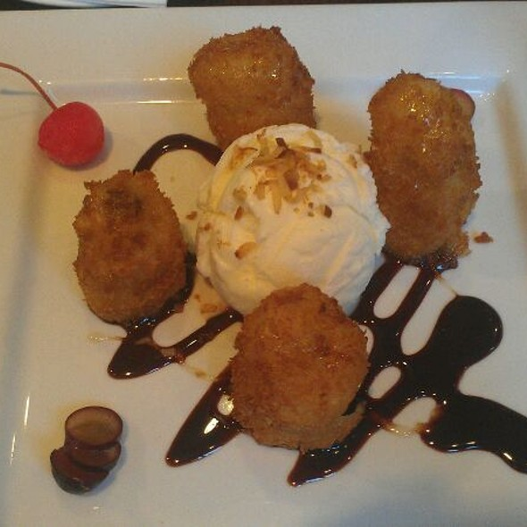 Fried Bananas with Coconut Ice Cream - Gecko Gecko, Berkeley, CA