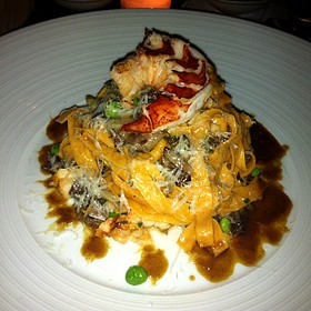 Lobster Roe Noodles - Island Creek Oyster Bar, Boston, MA