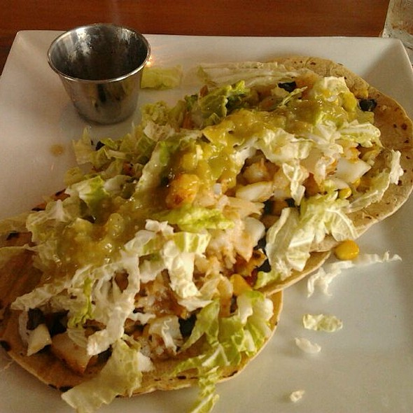 fish tacos - Persimmons Waterfront Restaurant, New Bern, NC