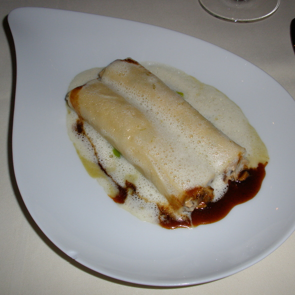 Canelloni with Shiitake Mushrooms, Lemon Sauce - Palace St. George - Restaurant, Mönchengladbach, NW