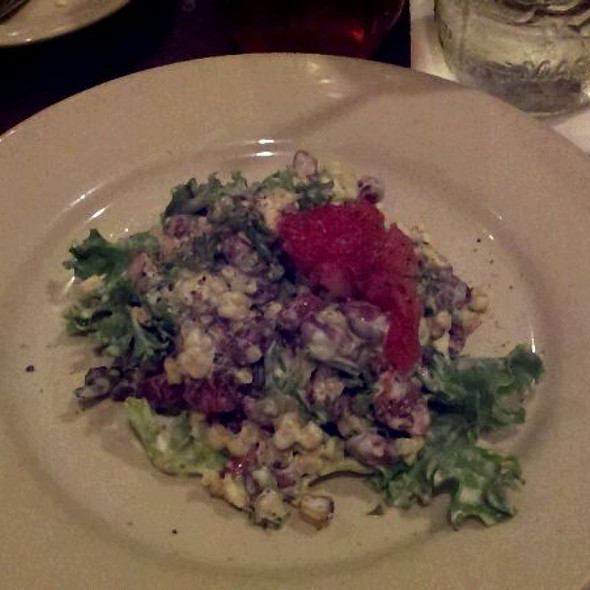 Roasted Tomato, Corn and Boiled Peanut Salad - Fat Hen, Johns Island, SC