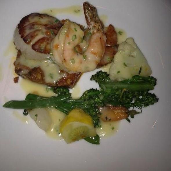Scallop, Shrimp, Andouille Hash - Satterfield's Restaurant, Birmingham, AL