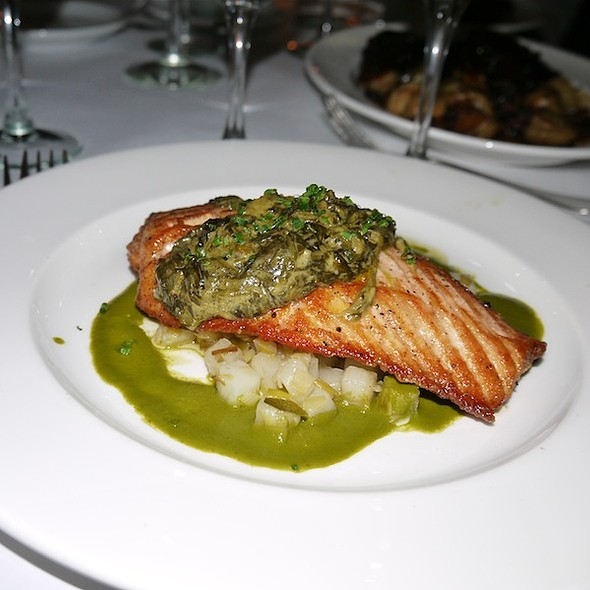 Grilled Salmon - Bobo Restaurant, New York, NY
