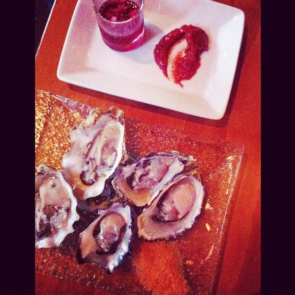 Pacific Oysters With Minonette, Granita, Cocktail Sauce - Luna Red, San Luis Obispo, CA
