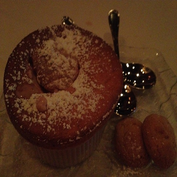 Raspberry Souffle with Shortbread - Viande Rouge, Duluth, GA