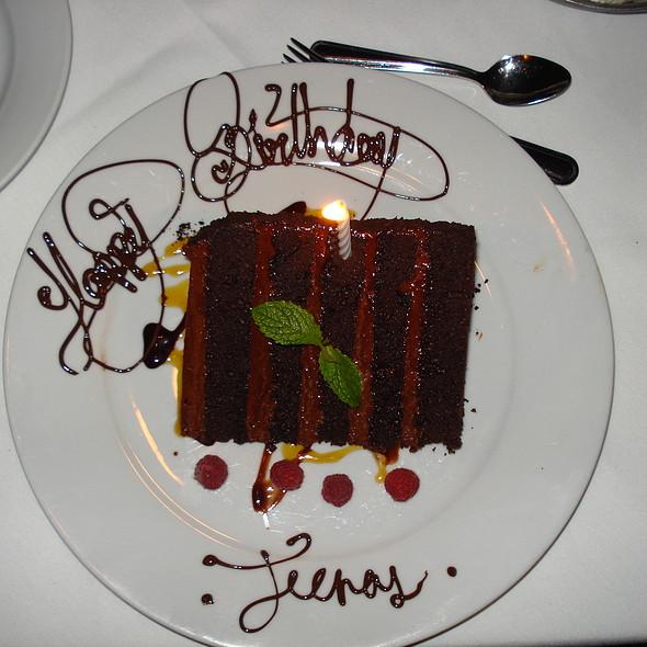 Birthday cake - Mastro's Ocean Club - Newport Beach, Newport Beach, CA