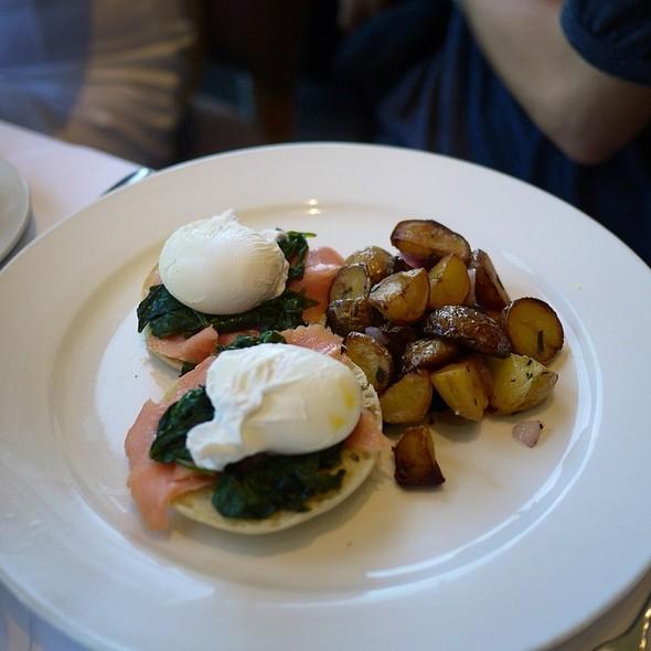 Smoked Salmon Benedict - Chaya Brasserie, San Francisco, CA