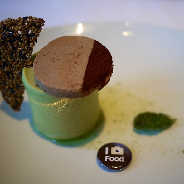 Green tea cheesecake - Chaya Brasserie, San Francisco, CA