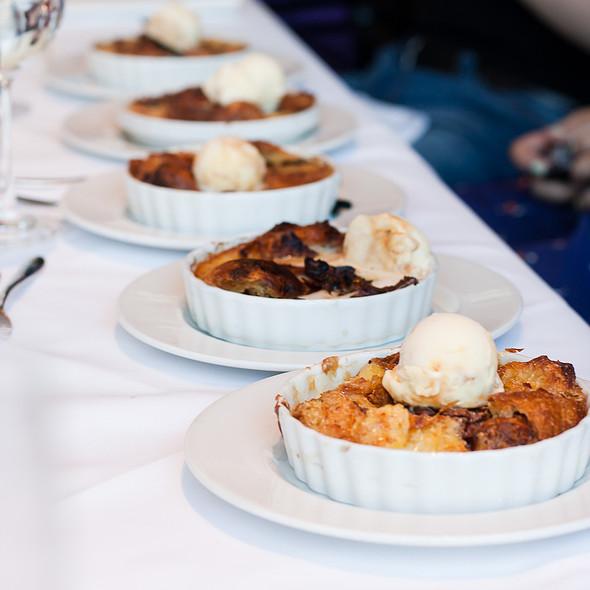 Warm Chocolate Croissant Bread Pudding - Chaya Brasserie, San Francisco, CA