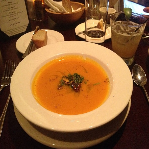 Carrot-Ginger Soup - Flora, Arlington, MA