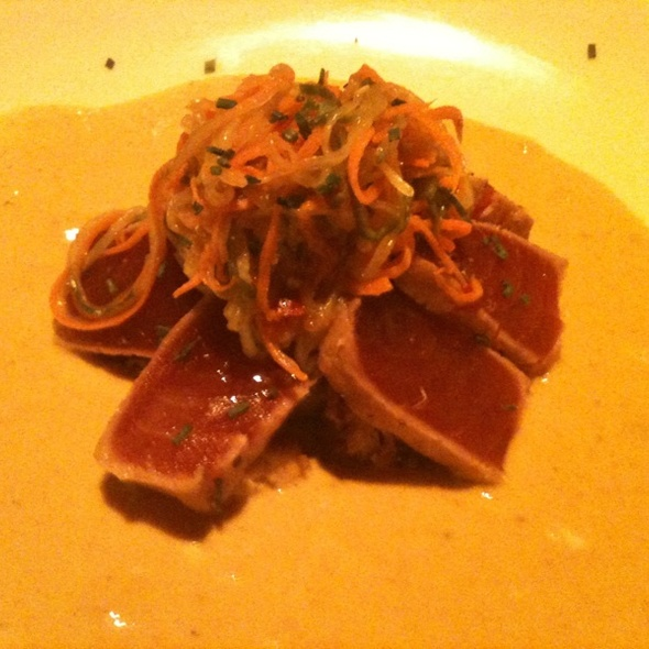 Seared Ahi Tuna w/ Curried Butternut Squash Puree - Horatio's, San Leandro, CA