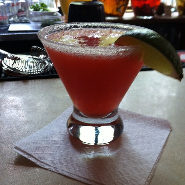 Strawberry Hot Pepper Margarita - Sonny's, Portland, ME
