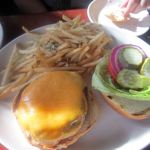 Cheddar Burger w/ Garlic Grill Fries - Salt Creek Grille - Rumson, Rumson, NJ