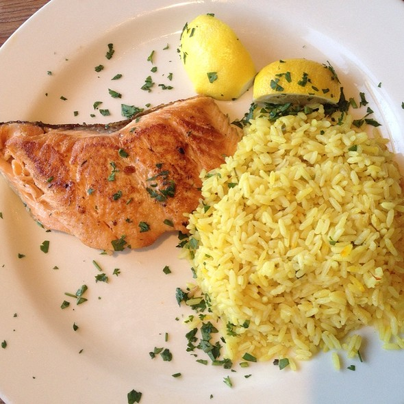 Grilled Salmon - Paradise Cove Beach Cafe, Malibu, CA