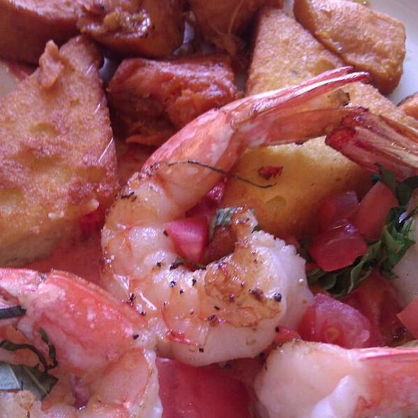 Grilled Shrimp with Crispy Polenta - Hyde Park Bar & Grill - Duval, Austin, TX