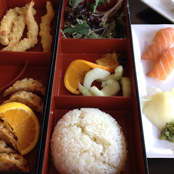 Bento Box Lunch With Salmon Nigiri - Sushi Omakase, Gilroy, CA
