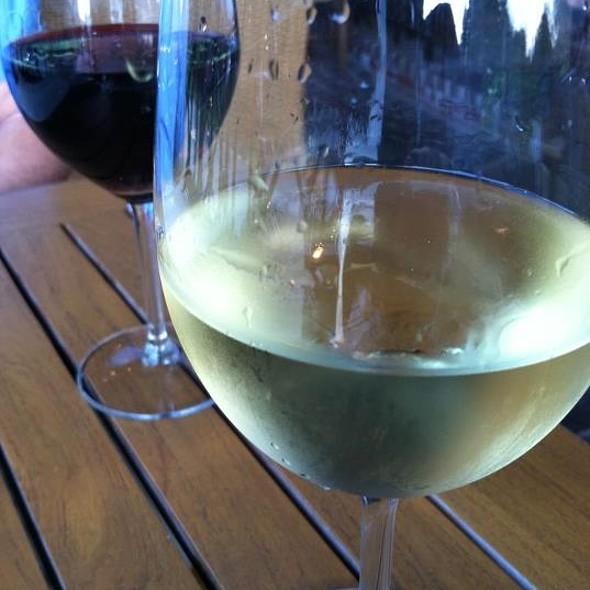 Glasses of Chardonnay and Merlot - Columbus Inn, Wilmington, DE