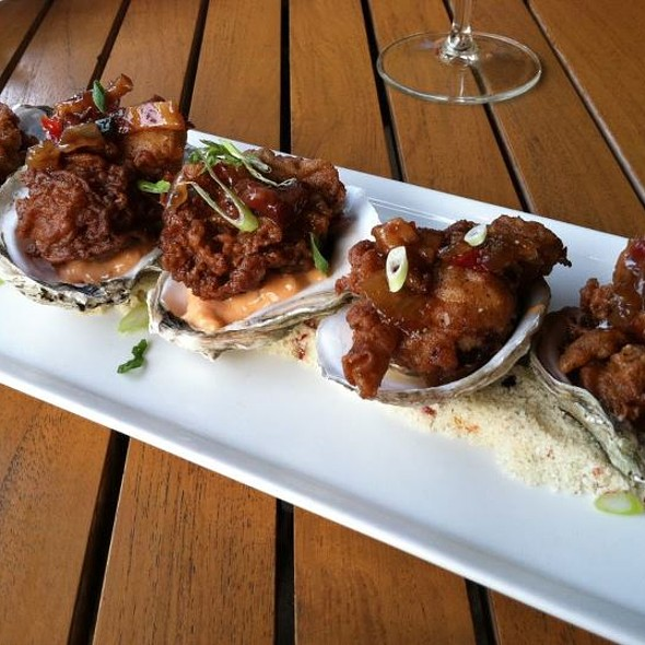 Fried Oysters Casino, bacon remoulade & bacon-red pepper relish - Columbus Inn, Wilmington, DE