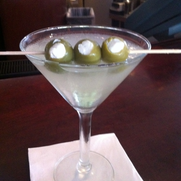 Martini With Blue Cheese Stuffed Olives - Timpano Italian Chophouse - Tampa, Tampa, FL