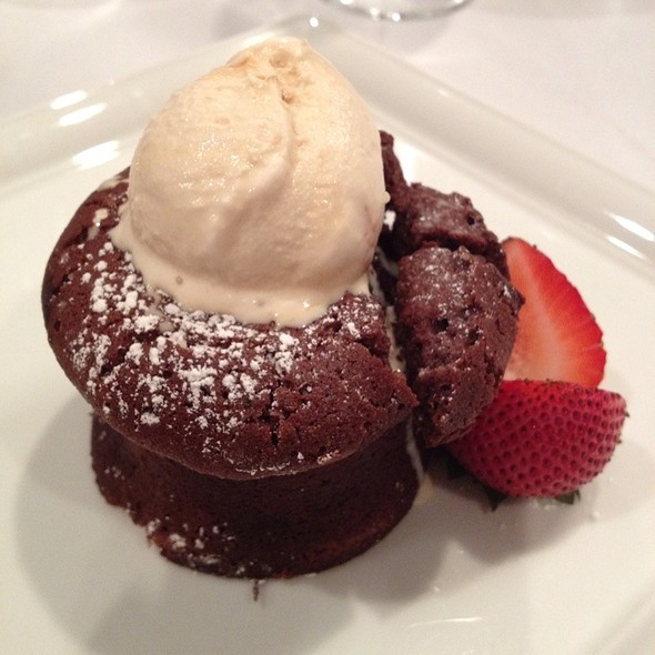 Molten Chocolate Cake - Preston's at Loews Hollywood Hotel, Hollywood, CA