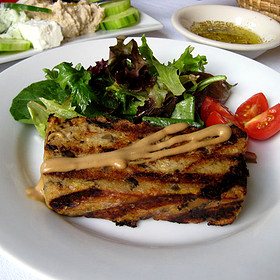 Olive bread pudding - Black Olive, Baltimore, MD