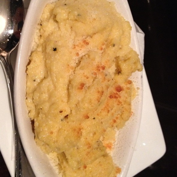 goat cheese polenta w/sweet peppers - Stroubes Seafood and Steak, Baton Rouge, LA