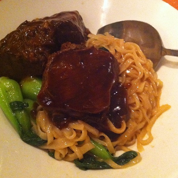 Beef Short Ribs With Noodles And Bok Choy - Pearl East, Manhasset, NY