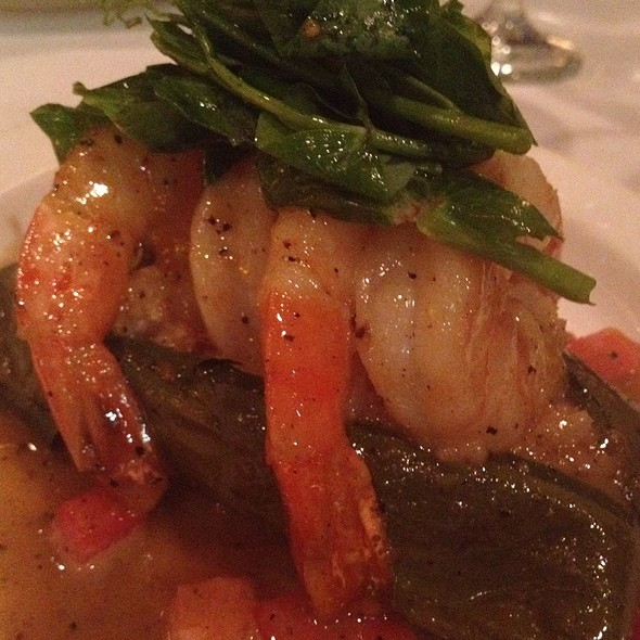 Garlic Black Pepper Shrimp With Sticky Rice - Blue Ginger, Wellesley, MA