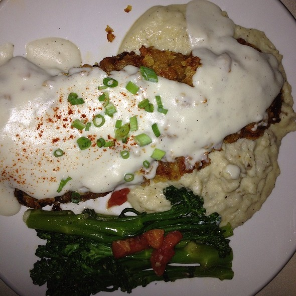 Cornflake Crusted Chicken Fried Steak - Glass Wall, Houston, TX