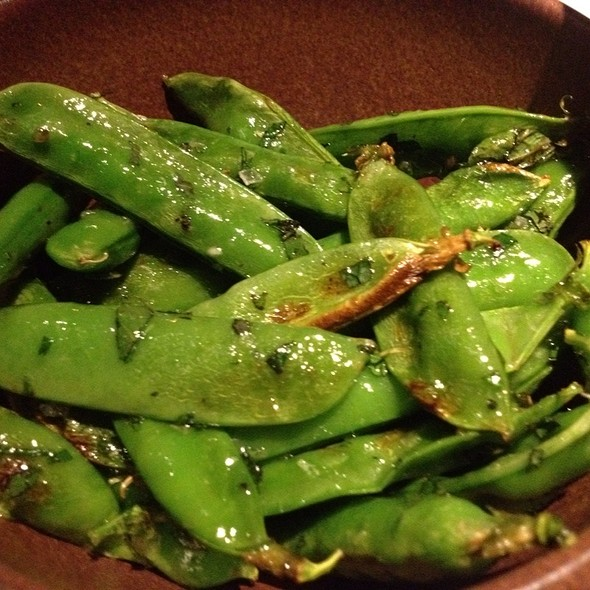 Wood Roasted English Peas - Tar & Roses, Santa Monica, CA