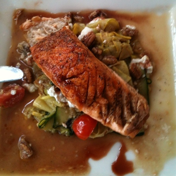 Pan Seared Salmon  - Plums Restaurant, Beaufort, SC