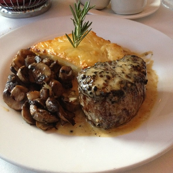 Peppercorn Crusted Filet Mignon - Piropos Restaurant, Kansas City, MO
