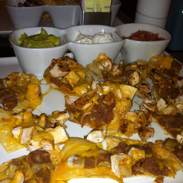 Stacked Chicken Nachos - White Oak Kitchen + Drinks, Houston, TX