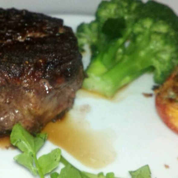 Filet Mignon (10oz.) with Breaded Tomatoe And Broccolli - Rare, the Steak House, Little Falls, NJ