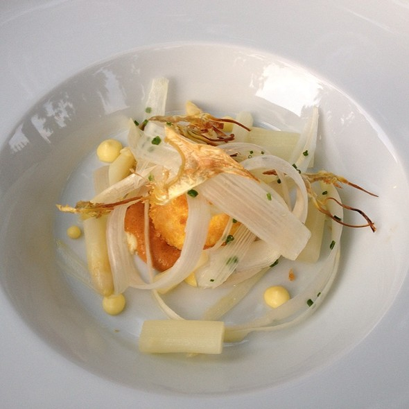 White Asparagus With Crusted Egg Yolk - Quatrefoil, Dundas, ON