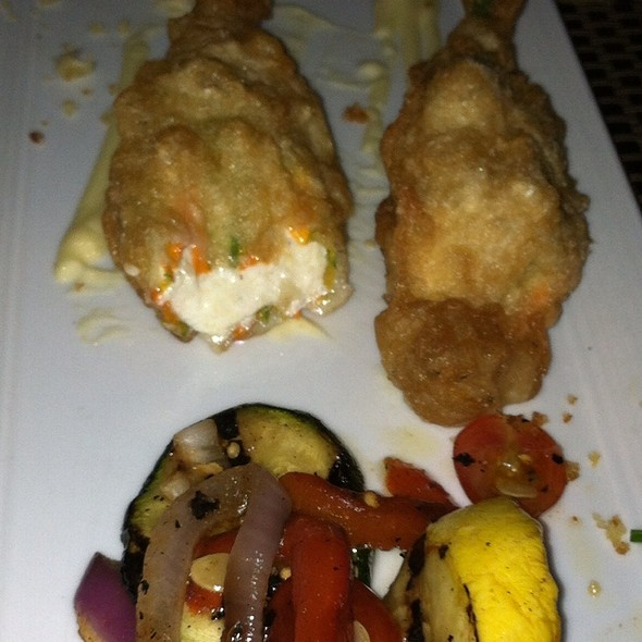 Zucchini Flowers In Tempura W/ Grilled Vegetables - Bricco, Boston, MA