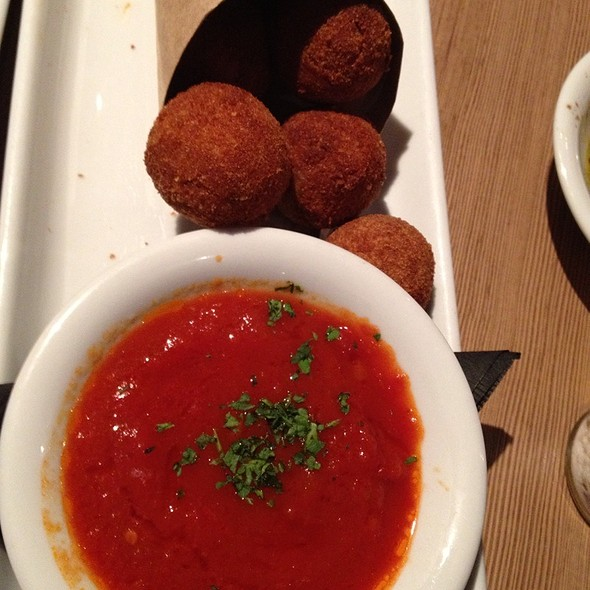 Fried Stuffed Olives - Bencotto Italian Kitchen, San Diego, CA