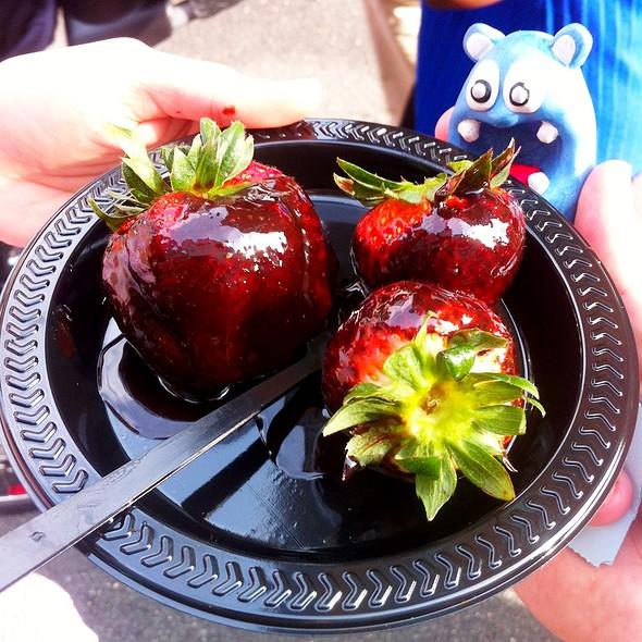 Strawberries Pure Chocolate Fondue - The Melting Pot - Reston, Reston, VA