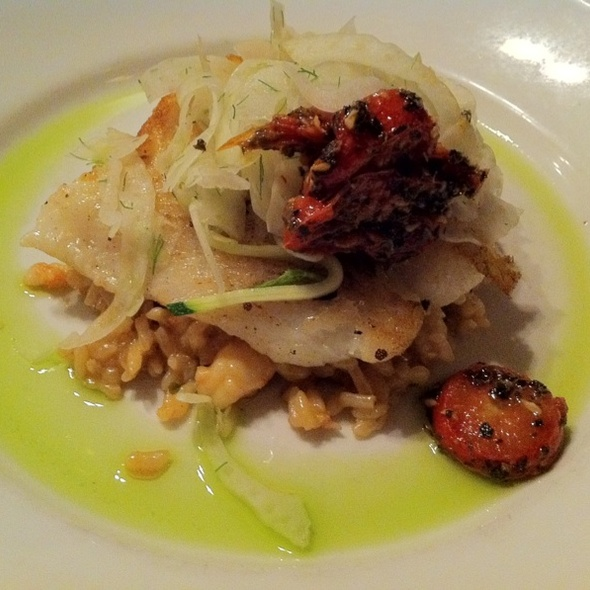 Chilean Sea Bass On Shrimp Risotto - J. Liu Restaurant & Bar of Dublin, Dublin, OH