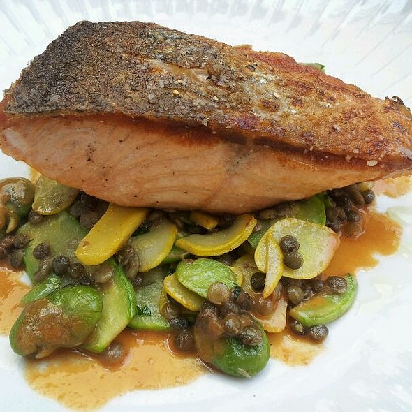 Pan Fried Salmon - Wilshire Restaurant, Santa Monica, CA