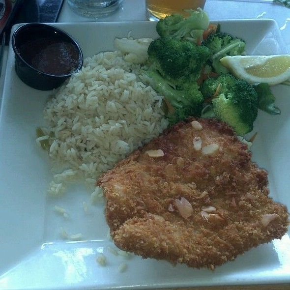 Almond Crusted Grouper With Rice Pilaf - Waterway Cafe, Palm Beach Gardens, FL