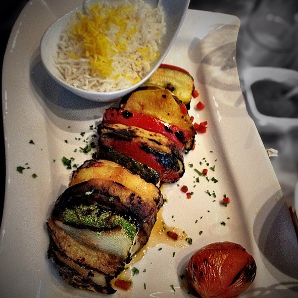 Vegetarian Kabob - Zafron Restaurant, Sandy Springs, GA