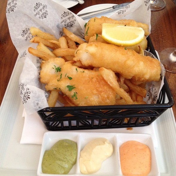 Fish & Chips - Cafe Du Parc, Washington, DC