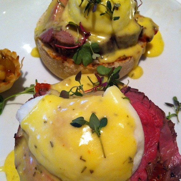 Filet Mignon Eggs Benedict - Fleming's Steakhouse - La Jolla, San Diego, CA