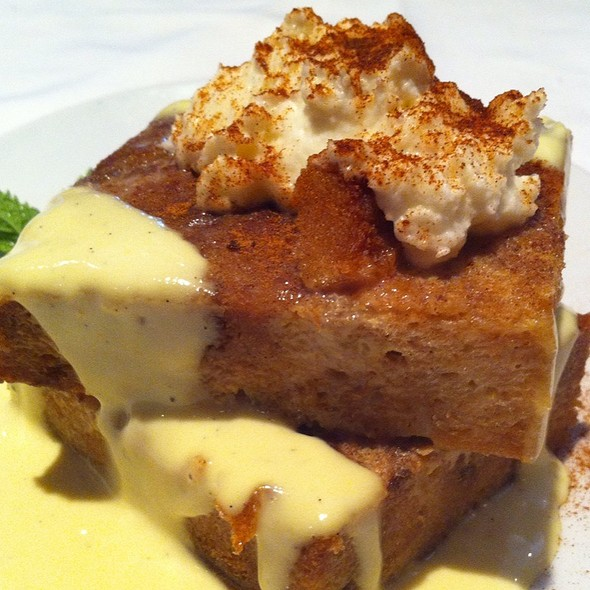 White Chocolate Bread Pudding - Fleming's Steakhouse - La Jolla, San Diego, CA