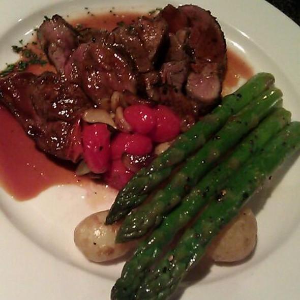 Pork Tenderloin, roasted Tomatoes & Potatoes w/ Grilled Asparagus - Bellinis, Oklahoma City, OK