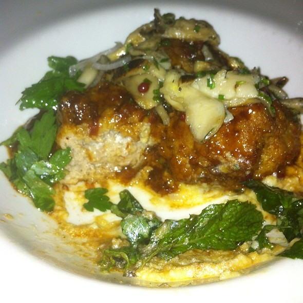 Veal Meatballs With Creamy Polenta And Charred Mushrooms - COMMERCE, New York, NY