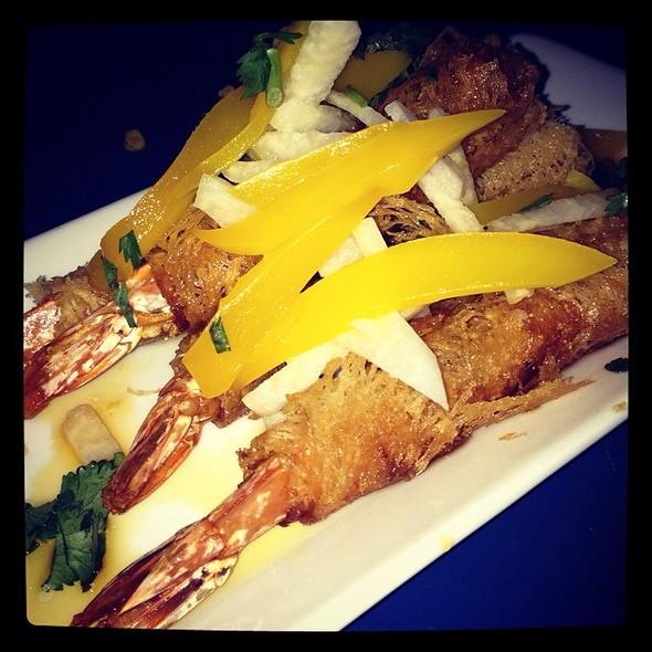 Crispy Shrimp (Wrapped In Rice Noodles With Mango And A Jicama Sweet Chili Sauce) - Loca Luna, Atlanta, GA